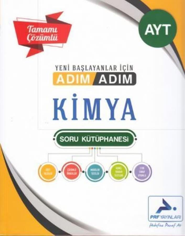 PRF Yayınları AYT Kimya Adım Adım Tamamı Çözümlü Soru Kütüphanesi