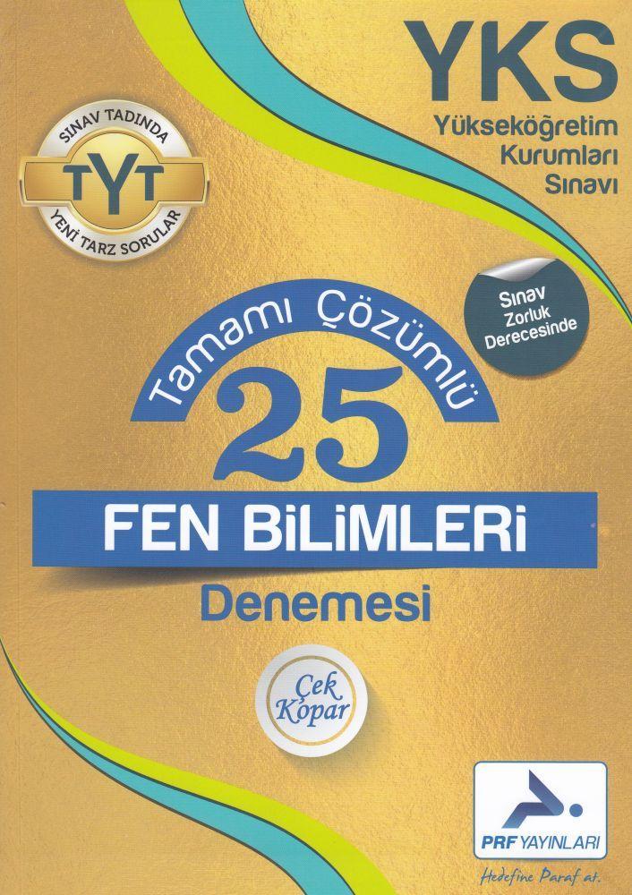 PRF Yayınları TYT Fen Bilimleri 25 Tamamı Çözümlü Denemesi