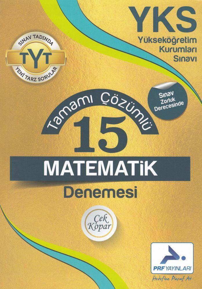 PRF Yayınları TYT Matematik 15 Tamamı Çözümlü Denemesi