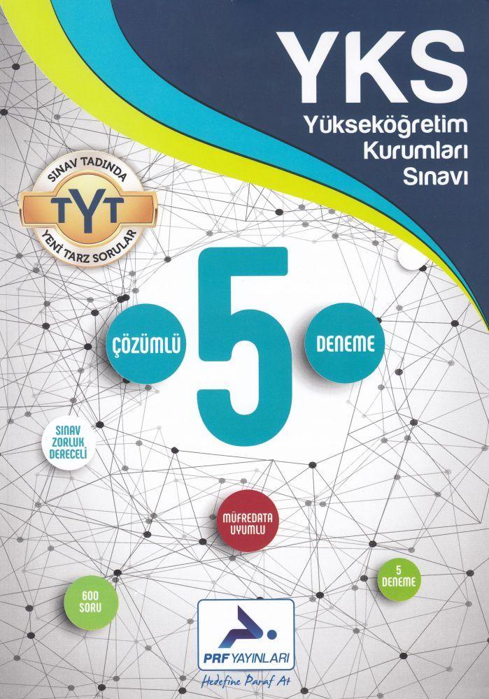 PRF Yayınları TYT 5 Çözümlü Deneme