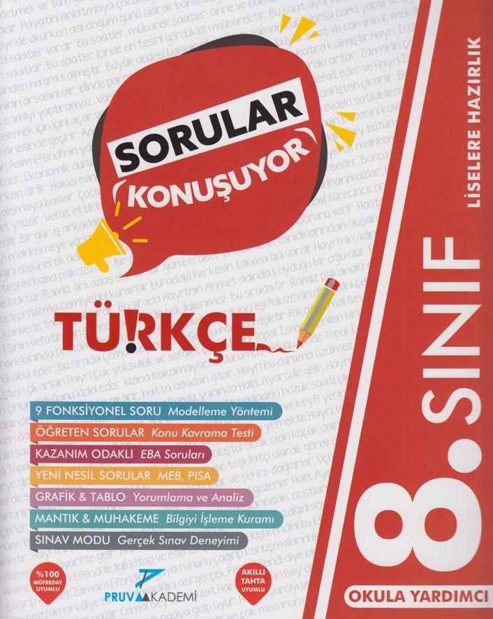 Pruva Akademi 8. Sınıf Türkçe Sorular Konuşuyor Soru Bankası