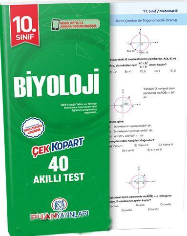 Puan Yayınları 10. Sınıf Biyoloji Akıllı Test