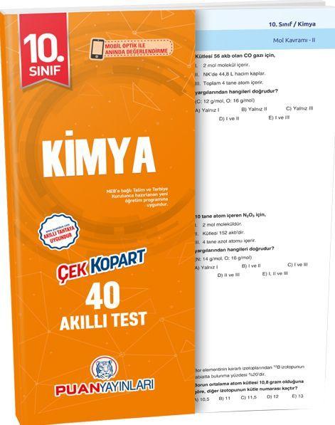 Puan Yayınları 10. Sınıf Kimya Akıllı Test