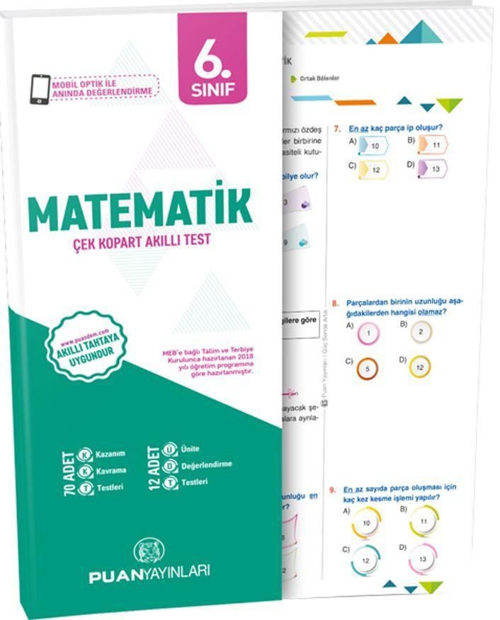 Puan Yayınları 6. Sınıf Matematik Akıllı Test