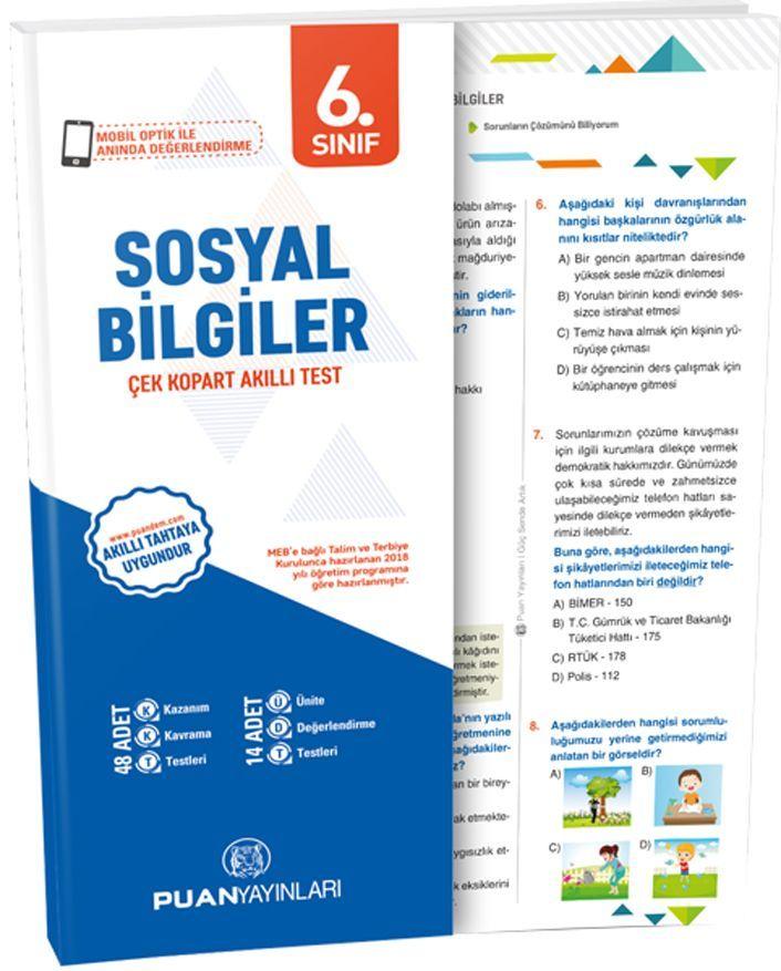 Puan Yayınları 6. Sınıf Sosyal Bilgiler Akıllı Test