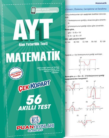 Puan Yayınları AYT Matematik Akıllı Test