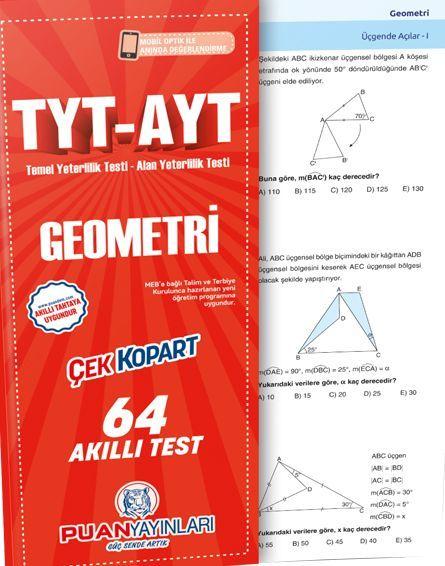 Puan Yayınları TYT AYT Geometri Akıllı Test