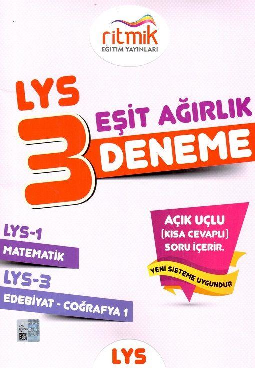 Ritmik Eğitim Yayınları LYS 1 LYS 3 Eşit Ağırlık 3 Fasikül Deneme