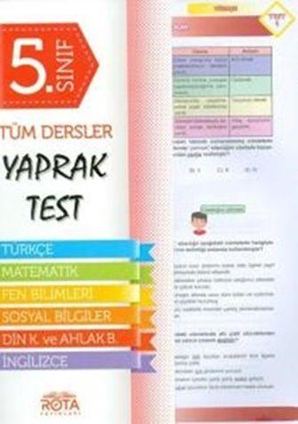 Rty Rota Yayınları 5.Sınıf Tüm Dersler Yaprak Test