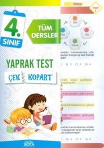 Rty Rota Yayınları 4. Sınıf Tüm Dersler Çek Kopart Yaprak Test