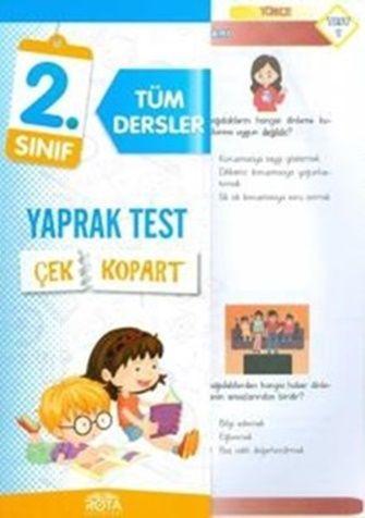 Rty Rota Yayınları 2. Sınıf Tüm Dersler Çek Kopart Yaprak Test