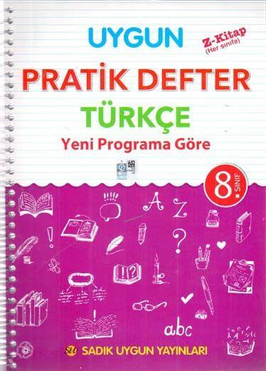 Sadık Uygun Yayınları 8. Sınıf Türkçe Pratik Defter