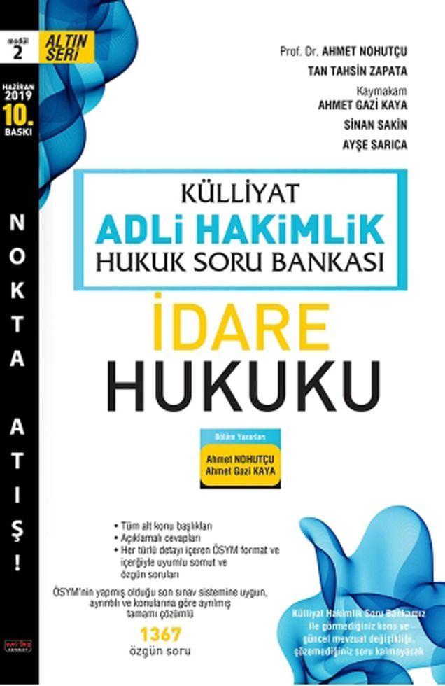 Savaş Yayınları Külliyat Adli Hakimlik İdare Hukuku Hukuk Soru Bankası