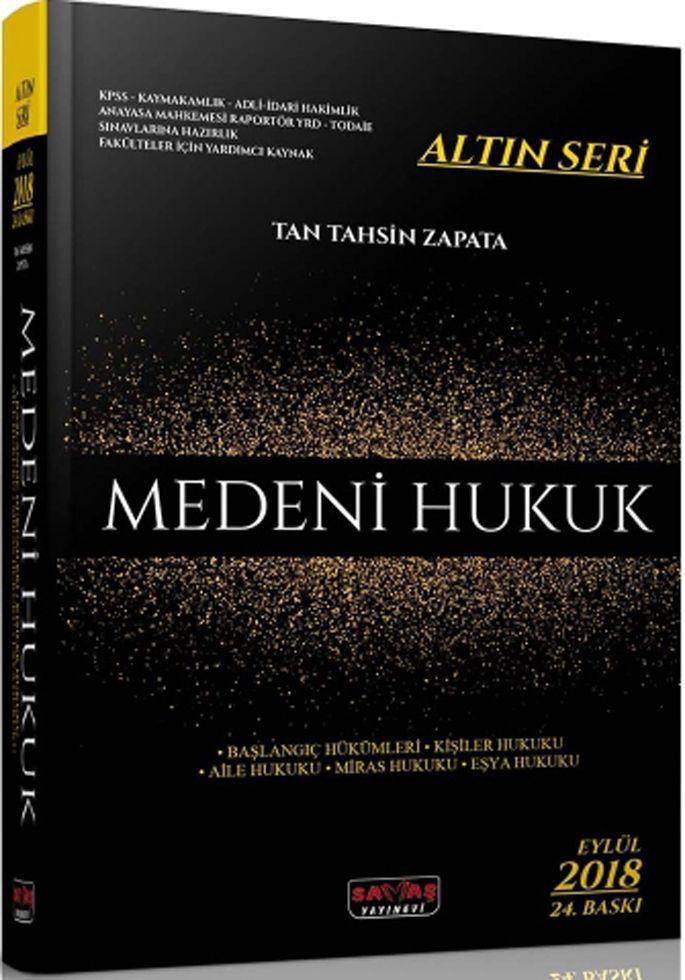 Savaş Yayınları Medeni Hukuk Altın Seri