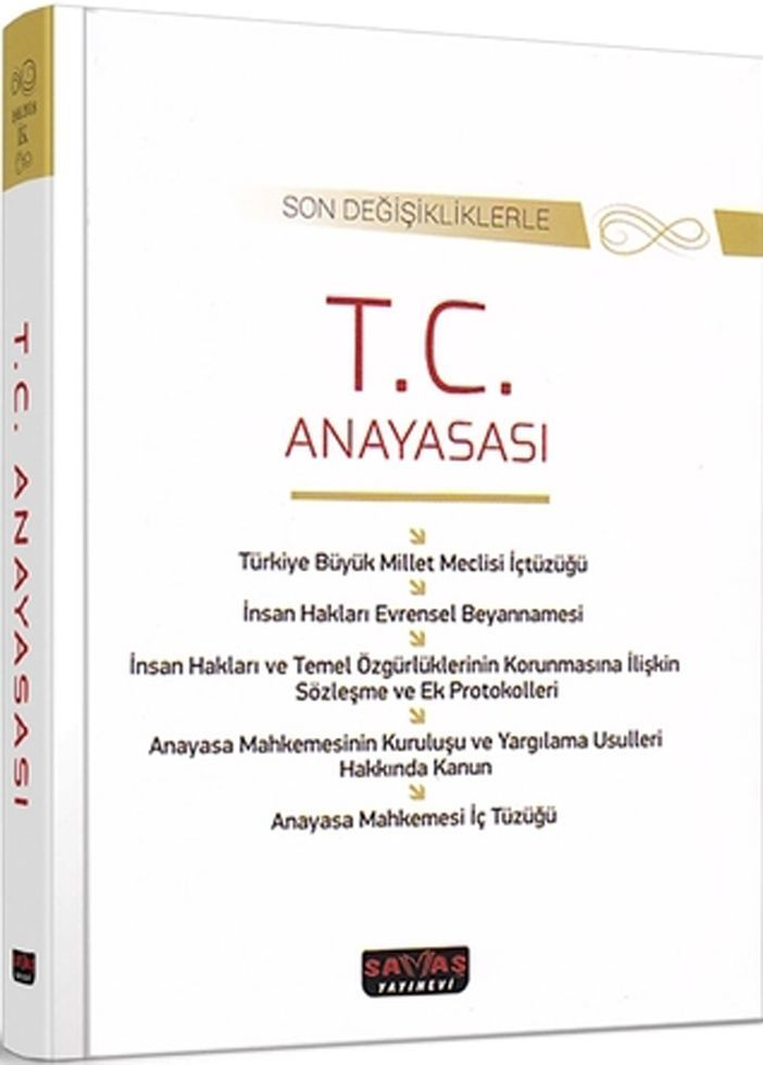Savaş Yayınları Son Değişikliklerle T.C. Anayasası