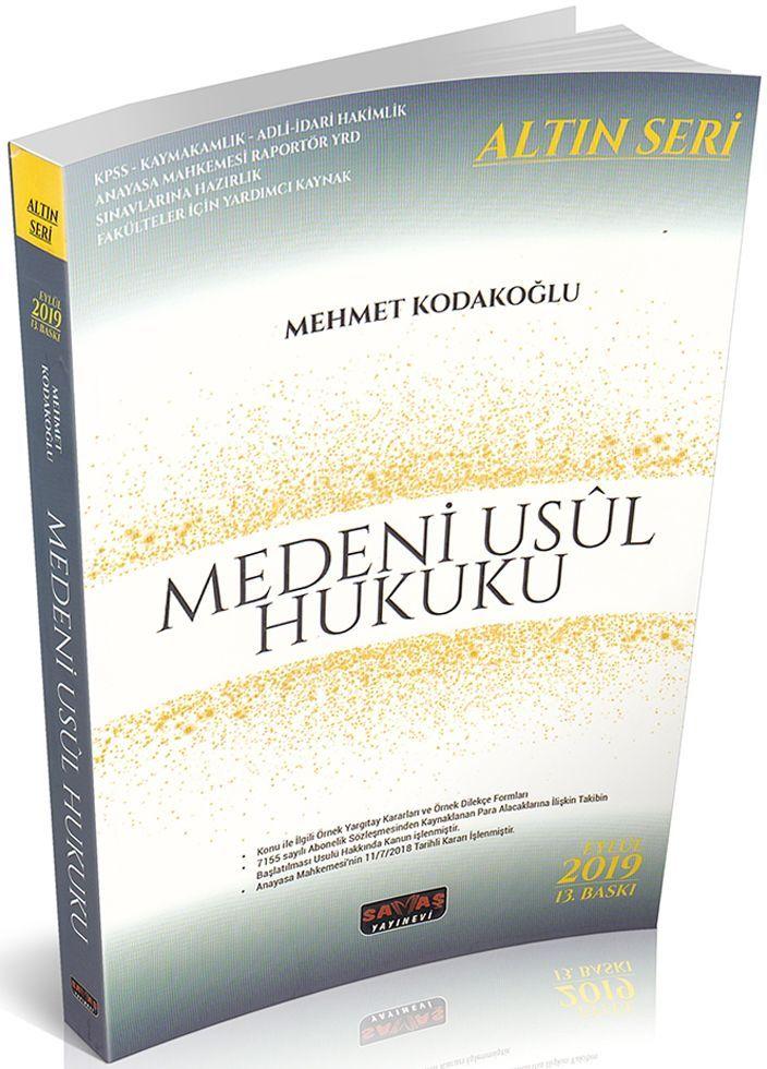 Savaş Yayınları Medeni Usul Hukuku Altın Seri