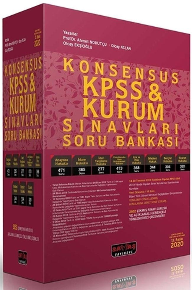 Savaş Yayınları KPSS ve Kurum Sınavları KONSENSUS Hukuk Soru Bankası
