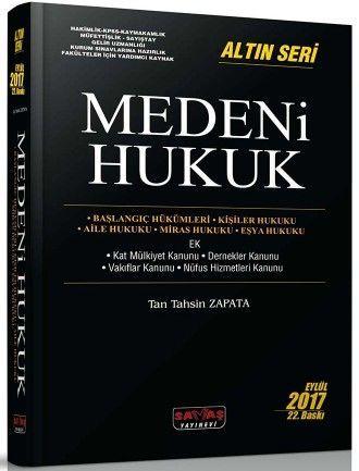 Savaş Yayınları Medeni Hukuk Altın Seri 22. Baskı