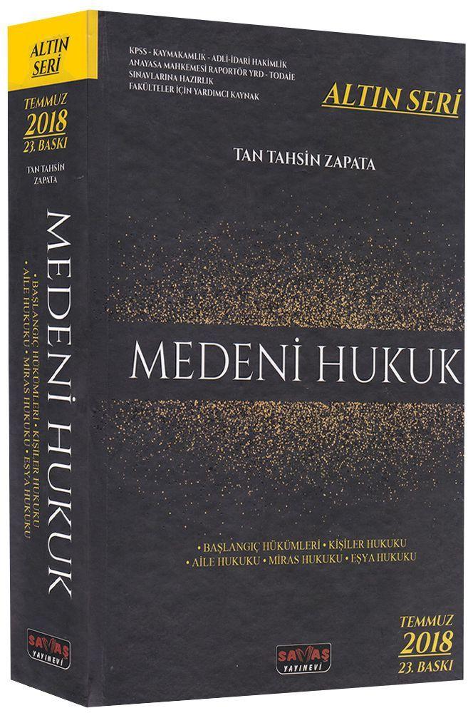 Savaş Yayınları Medeni Hukuk Altın Seri 23. Baskı