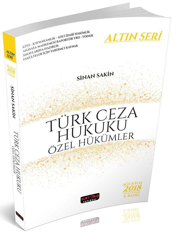 Savaş Yayınları Türk Ceza Hukuku Özel Hükümler