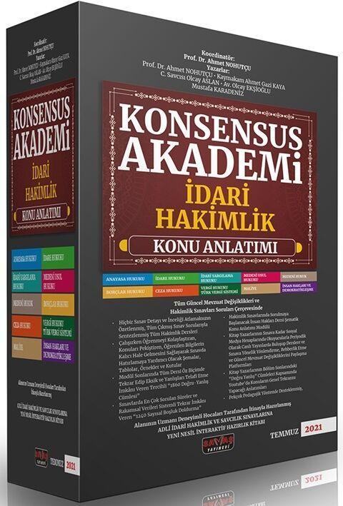 Savaş YayınlarıKonsensus Akademi İdari Hakimlik Konu Anlatımlı Set