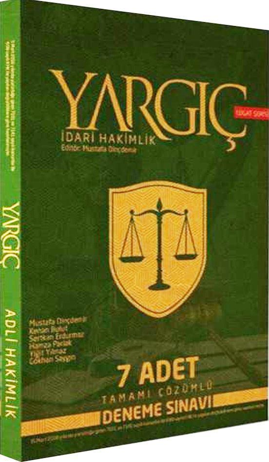 Savaş Yayınları Yargıç İdari Hakimlik 7 Adet Tamamı Çözümlü Deneme Sınavı