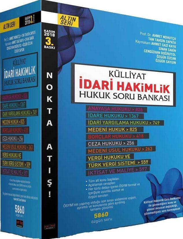 Savaş Yayınları Külliyat İdari Hakimlik Modüler Soru Bankası Nokta Atışı Seti