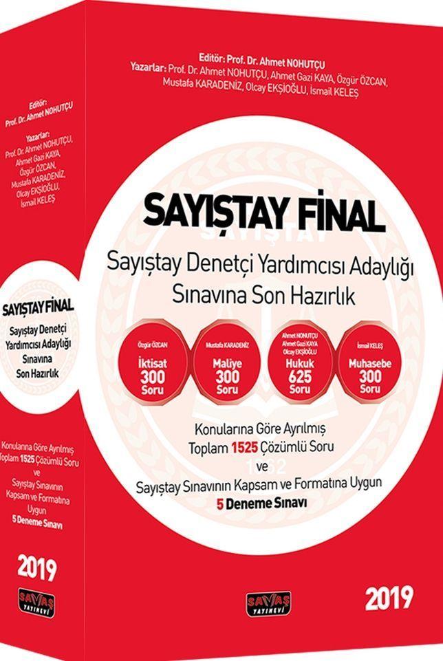 Savaş Yayınları Sayıştay Final Sayıştay Denetçi Yardımcısı Adaylığı Sınavına Son Hazırlık