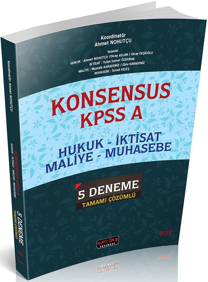 Savaş Yayınları KPSS A Konsensus Tamamı Çözümlü 5 Deneme