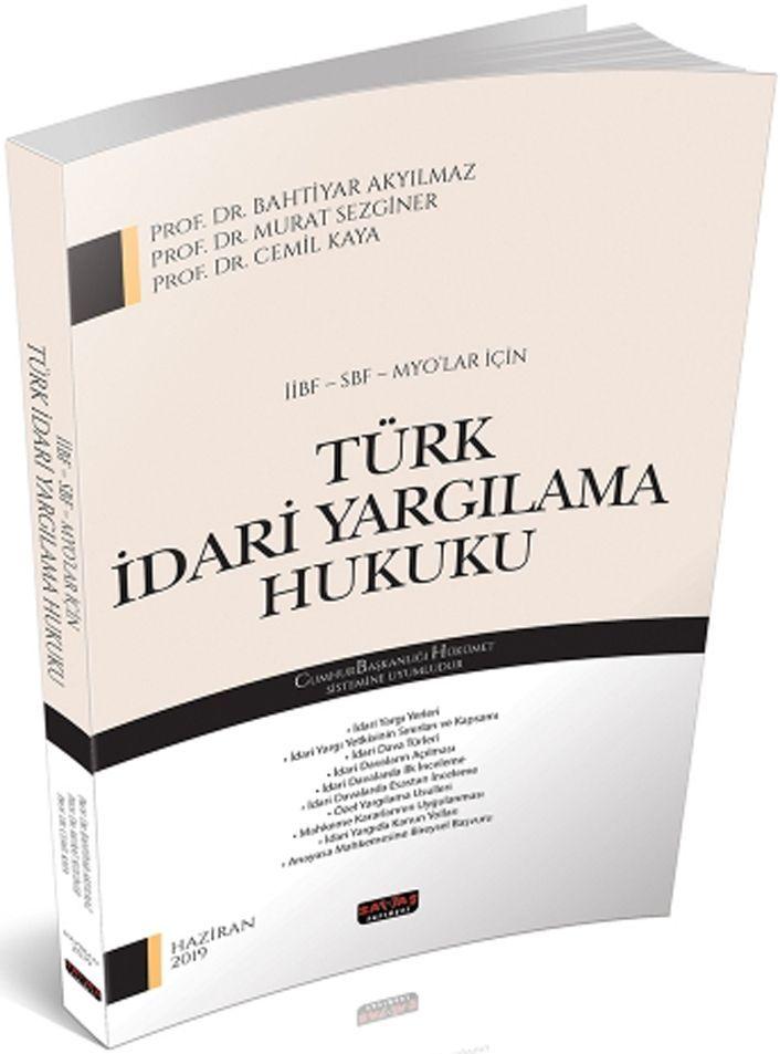 Savaş Yayınları İİBF SBF MYO lar İçin Türk İdari Yargılama Hukuku