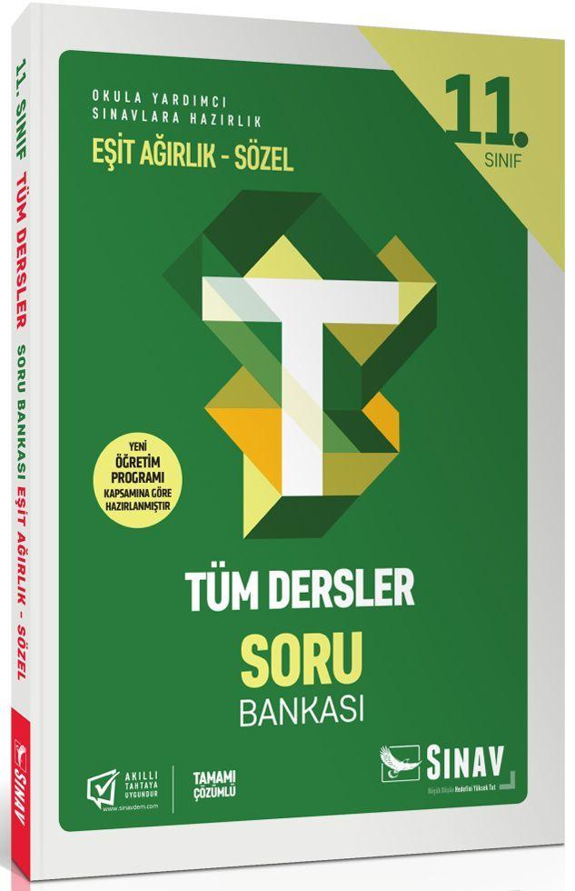 Sınav Yayınları 11. Sınıf Tüm Dersler Eşit Ağırlık Sözel Soru Bankası