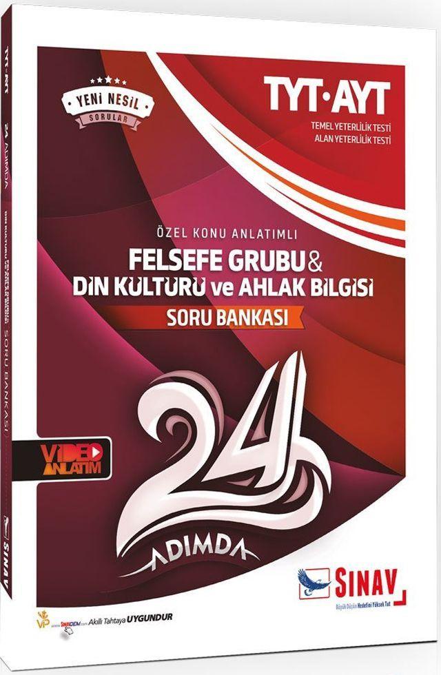 Sınav Yayınları TYT AYT Felsefe Grubu Din Kültürü ve Ahlak Bilgisi 24 Adımda Özel Konu Anlatımlı Soru Bankası