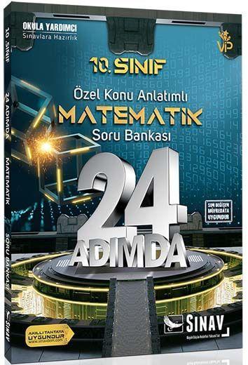 Sınav Yayınları 10. Sınıf Matematik 24 Adımda Özel Konu Anlatımlı Soru Bankası
