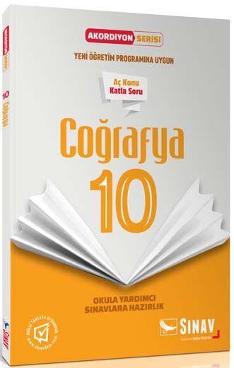 Sınav Yayınları 10. Sınıf Coğrafya Akordiyon Kitap