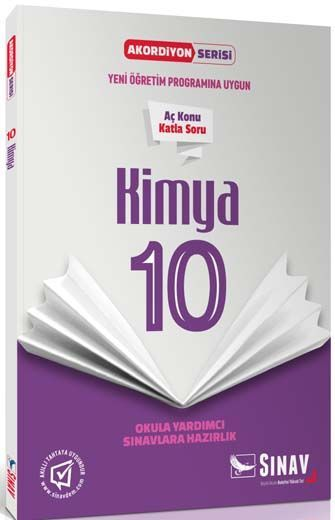 Sınav Yayınları 10. Sınıf Kimya Akordiyon Kitap