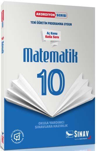 Sınav Yayınları 10. Sınıf Matematik Akordiyon Kitap