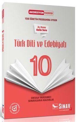 Sınav Yayınları 10. Sınıf Türk Dili ve Edebiyatı Akordiyon Kitap