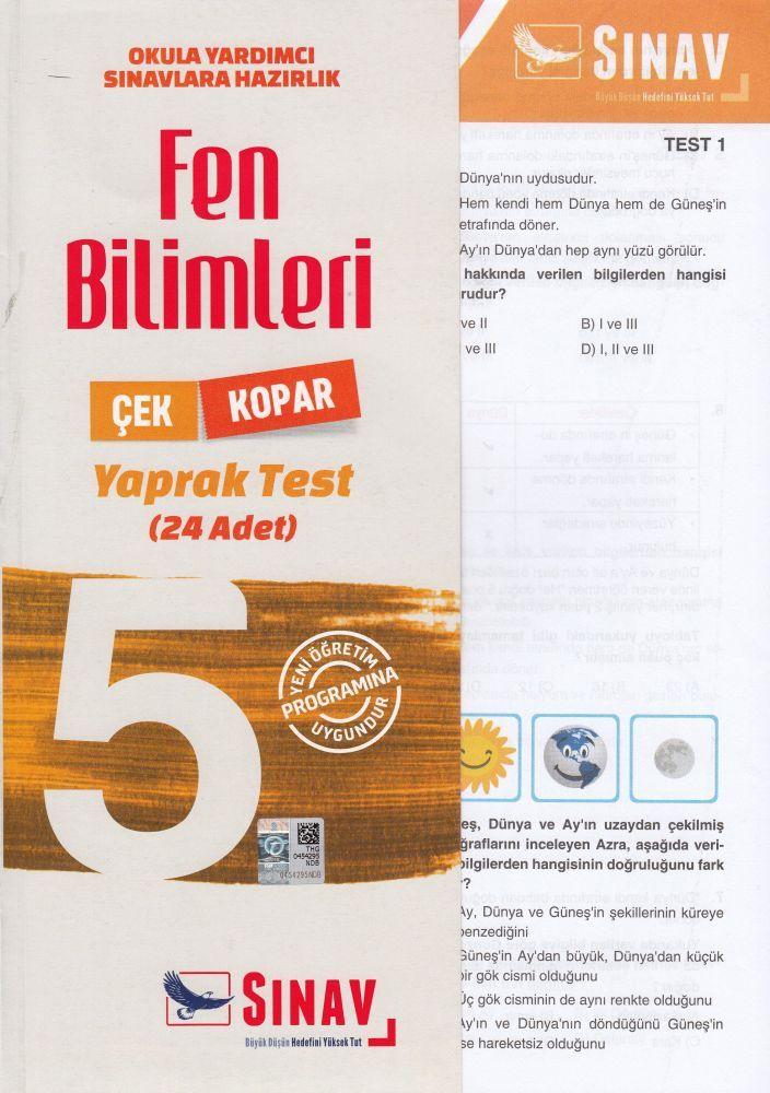 Sınav Yayınları 5. Sınıf Fen Bilimleri Çek Kopar Yaprak Test