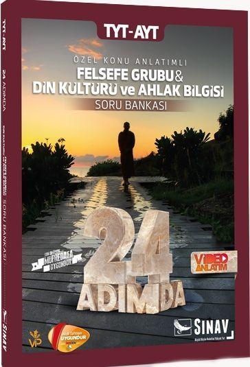 Sınav Yayınları TYT AYT Felsefe Grubu ve Din Kültürü ve Ahlak Bilgisi 24 Adımda Özel Konu Anlatımlı Soru Bankası