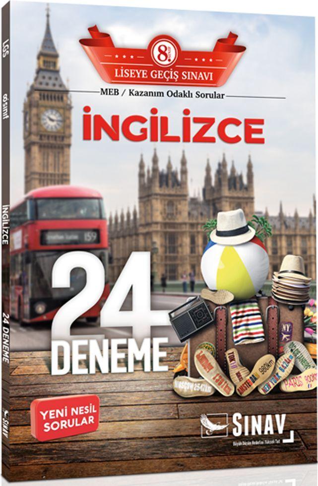 Sınav Yayınları 8. Sınıf LGS İngilizce 24 Deneme