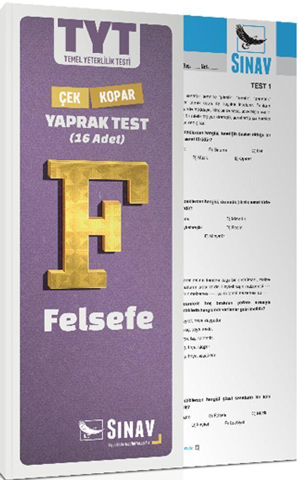 Sınav Yayınları TYT Felsefe Çek Kopar Yaprak Test