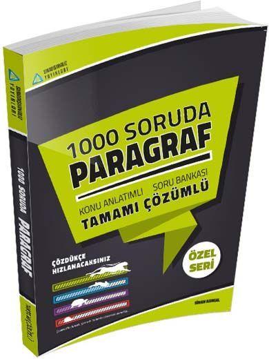 Sıradışıanaliz Yayınları 1000 Soruda Paragraf Tamamı Çözümlü Konu Anlatımlı Soru Bankası