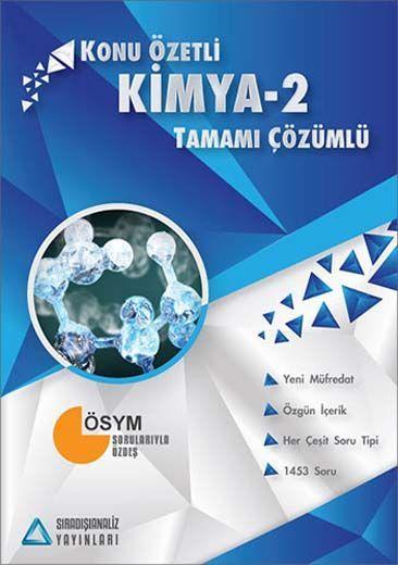 Sıradışıanaliz Yayınları AYT Kimya 2 Tamamı Çözümlü Konu Özetli