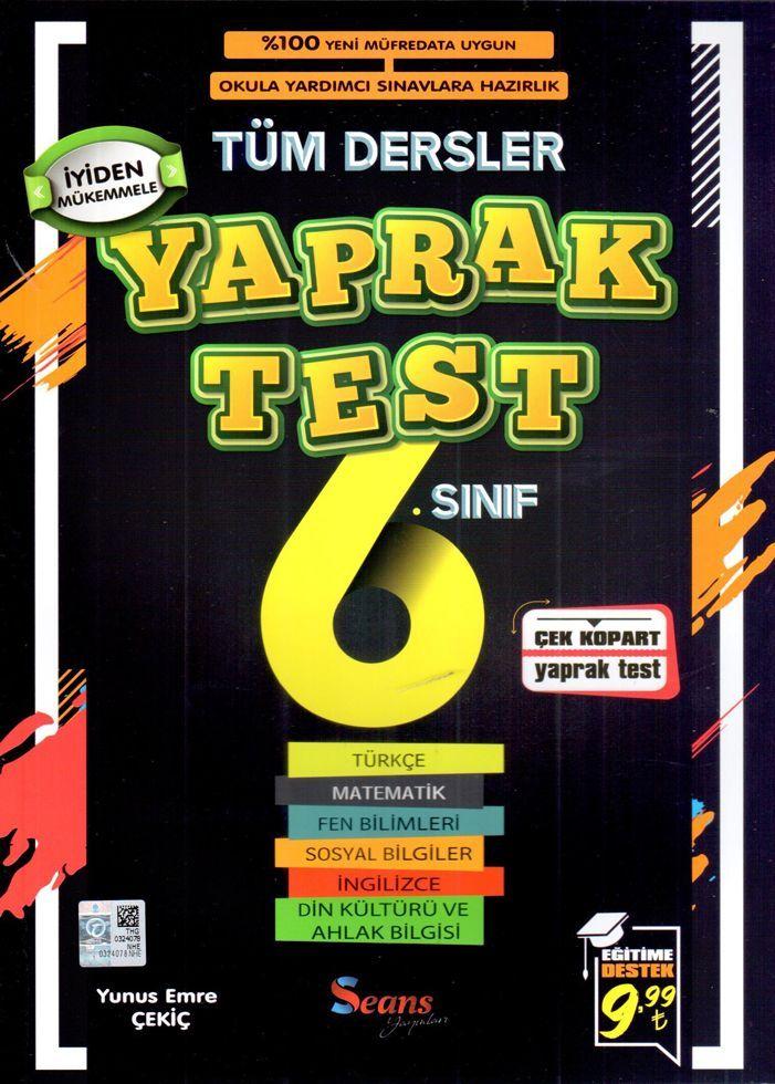 Seans Yayınları 6. Sınıf Tüm Dersler Yaprak Test