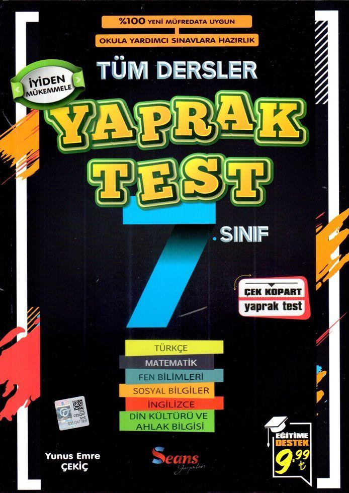 Seans Yayınları 7. Sınıf Tüm Dersler Yaprak Test