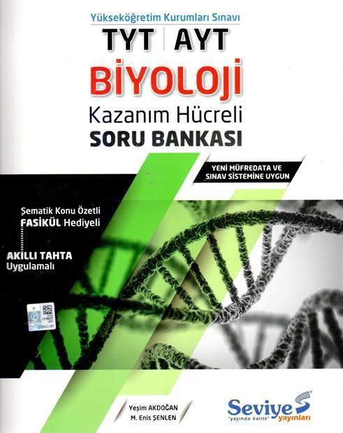 Seviye Yayınlar TYT AYT Biyoloji Kazanım Hücreli Soru Bankası