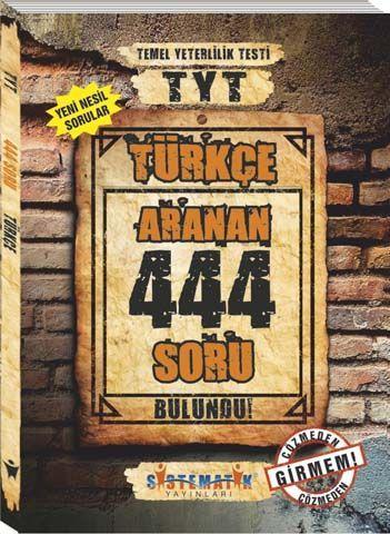 Sistematik Yayınları TYT Türkçe 444 Aranan Soru