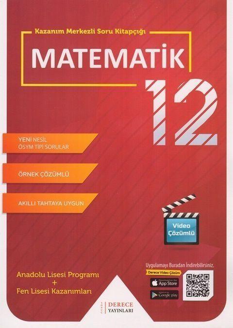 Sonuç Derece Yayınları12. Sınıf Matematik Kazanım Merkezli Soru Kitapçığı Seti