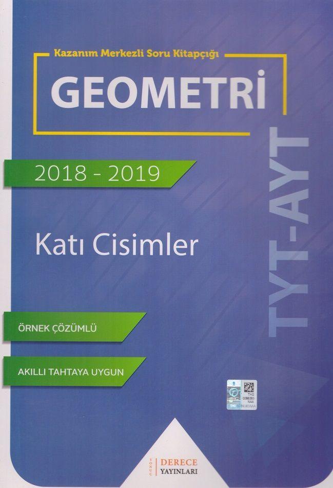 Sonuç Derece Yayınlar TYT AYT Geometri Katı Cisimler