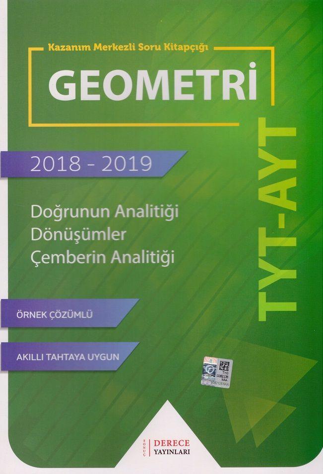 Sonuç Derece Yayınları TYT AYT Geometri Doğrunun Analitiği Çember Dönüşümler Kazanım Merkezli Soru Kitapçığı